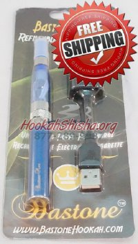 Rechargeable Hookah Vapor Pen With Cartomizer / Atomizer Blue: Shisha Stick