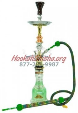 Dark Green Khalil Mamoon Hookah Single hose