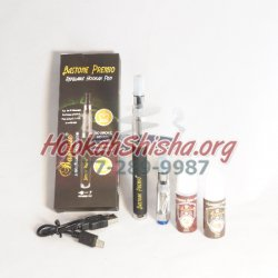 Refillable Hookah Pen Starter Set: Bastone Premio Black