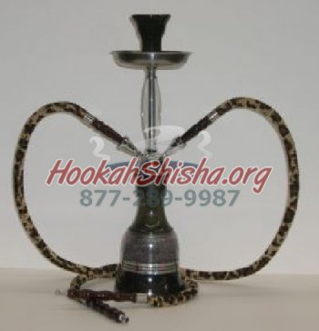 "Mini Frozen Double Hose Hookah - 18"" - Tiger"