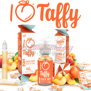 Mad Hatter Gourmet E-Juice: I Love Taffy E-Liquid 60 ML (Peach Taffy)