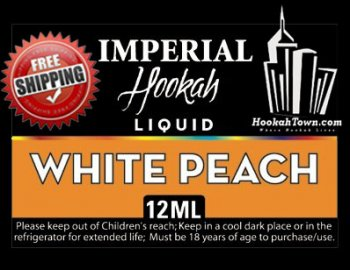 E Hookah Refill Liquid 12ml: White Peach