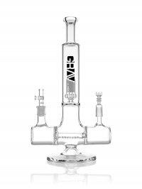 "13"" GRAV® Dual Function Inline Water Pipe - Clear"