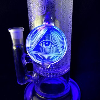 ILLUMINATI Blue V Sacred Gemeotry Series with Ball of life perc