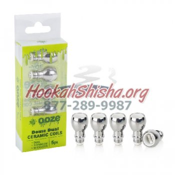 Ooze 5 Pack Dome Dual Ceramic Coils