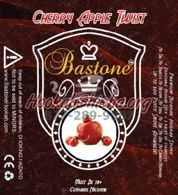 Bastone Premium E-Hookah Liquid: Cherry Apple Twist: 500 Puffs