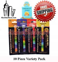 Imperial Nicotine Free Disposable Hookah Stick: Variety 10 Pack : 6000 Puffs
