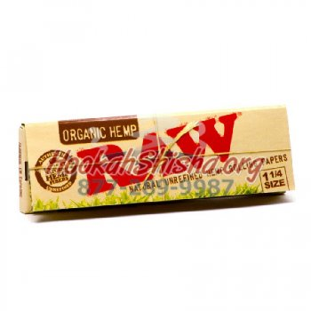 ORGANIC HEMP 1 1/4 SIZE CONES RAW UNREFINED HEMP ROLLING PAPERS 32 CONES PER PACK
