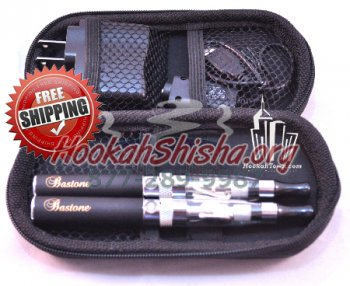 Refillable Hookah Pen: 10 Pack of Bastone Mini 2 Pack Zipper Case CE5 650 MAH Battery