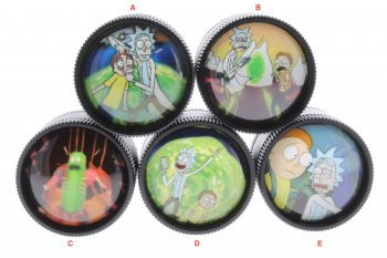 RICK & MORTY DOME TOP 4 LEVEL TITANIUM GRINDERS