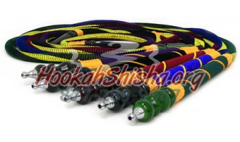 Large Velvet and Gold Hookah Hose
