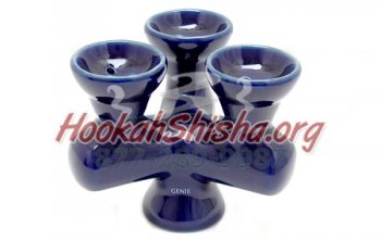 Three Head Ceramic Hookah Bowl
