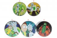 RICK & MORTY FLAT TOP 4 LEVEL TITANIUM GRINDERS