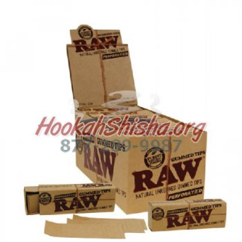 Raw Gummed Tips (5 Pack : 165 Leaves Total)