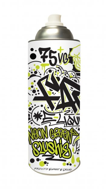 Element E-Liquid Far Neon Green Slushie Spray Can