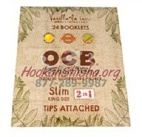 OCB ORGANIC HEMP ROLLING PAPERS TIPS ATTACHED 1 1/4 (24 booklets)