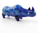 HAND HELD GLASS PIPE-RHINO
