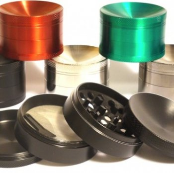 Premium 4 Level Sloped Titanium Grinder (Large)