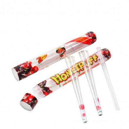 HoneyPuff Pre-Rolled Transparent 1 1/4 Size Cones - Cherry