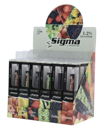 Sigma Disposable E-Hookah - 1.2% Nicotine DOUBLE APPLE