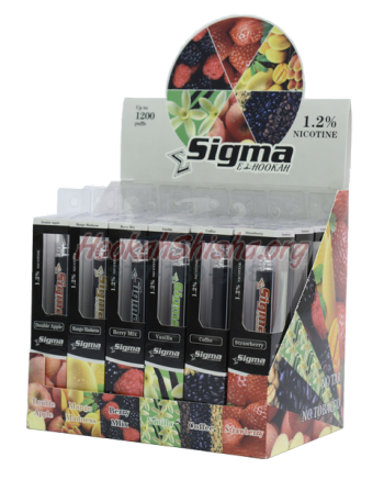 Sigma Disposable E-Hookah : 1.2% Nicotine Sampler 6 Pack (7200 Puffs)