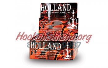 Holland Hookah Charcoal Large 44 mm Carton - 100 Tablets