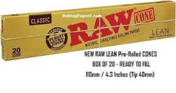 20-Cones Lean RAW Natural Rolling Papers