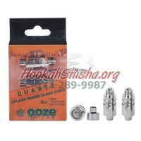 Ooze Dual Quartz Coil + Splash Guard (1 Piece)