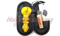 Bastone: Medium Glass Tobacco Pipe Travel Kit