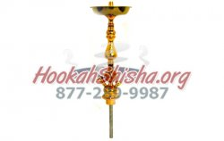Large Gold Sahara Hookah Stem