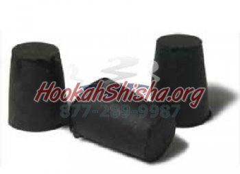 Rubber Hookah Stem Plugs (Set of 2)