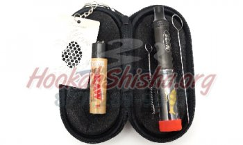 Bastone Travel Kit: Atman Goldenfish Twisty Glass Pipe Blunt: Mechanical Kit