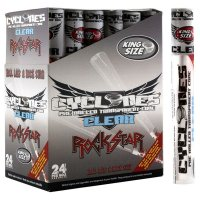 CYCLONES PRE-ROLLED CLEAR CIGAR TUBE - ROCKSTAR KING SIZE per TUBE
