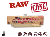 KING SIZE CONES CLASSIC RAW UNREFINED ROLLING PAPERS 32 CONES PER PACK