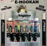 Sigma Disposable e-Hookah – Nicotine Free: Sampler 6 Pack (7200 Puffs)