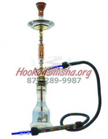 "BLUE Khalil Mamoon 33"" Hookah Single hose"