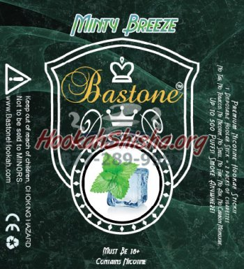 Bastone Premium E-Hookah Sticks: Minty Breeze: 500 Puffs