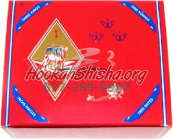 Three Kings Hookah Charcoals Carton -100 Pieces (Large 40 mm)