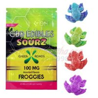 CBD SOUR GUMMIES: 100MG SOURZ FROGGIES by GREEN ROADS