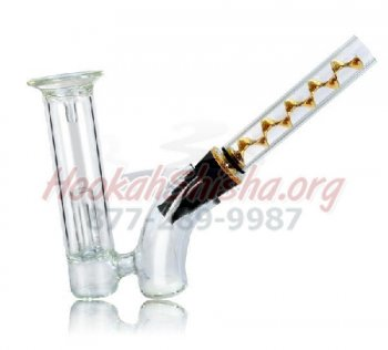 Twisty Glass Blunt Bubbler Water Pipe Goldenfish Pipe for Tobacco