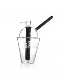 "8"" GRAV® Cup Bubbler - Black"