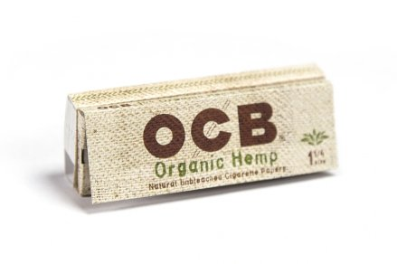 OCB Organic Hemp Unbleached Rolling Papers 1 1/4 with Tips