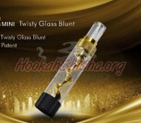 Mini Twisty Glass Blunt Pipe Goldenfish Pipe for Dry Herb & Tobacco V12 7-Pipe