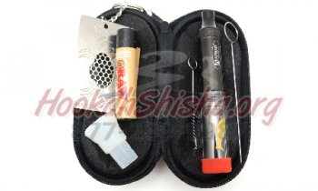 Bastone Travel Kit: Atman King Goldenfish Pipe Glass Blunt: Mechanical Kit with Adapter