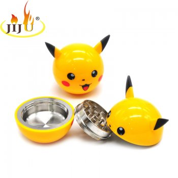 Pikachu Cartoon Style Grinder Tobacco Portable Creative Hand Spinner Alloy Metal Grinder