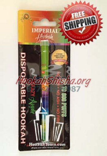 Imperial Zero Nicotine Portable Hookah Stick : Crazy Apple: 600 Puffs