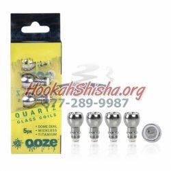 Ooze Dome Dual Quartz Coil (1 Piece)