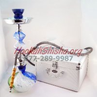 The Jelly Bean Hookah Green, White, & Blue
