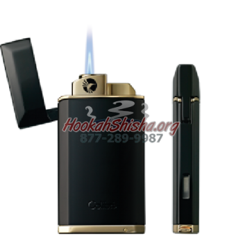 SINGLE JET COMPACT CIGAR LIGHTER w/puncher EVOKE