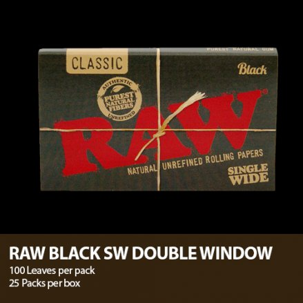 RAW CLASSIC BLACK ROLLING PAPER 1 1/4